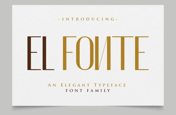 El Fonte Sans Elegant Typeface