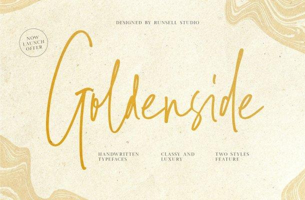 Goldenside Handwritten Script Typeface