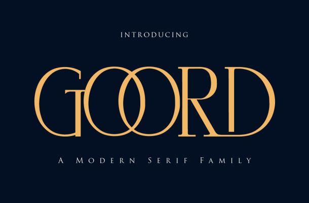 Goord Modern Serif Font