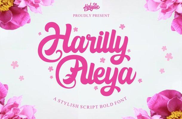 Harilly Aleya Bold Script Font