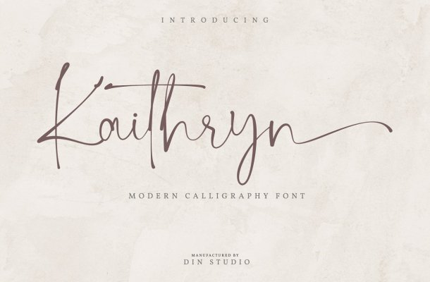 Kaithryn Handwritten Script Font