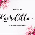 Kamelitta Curvy Script Font