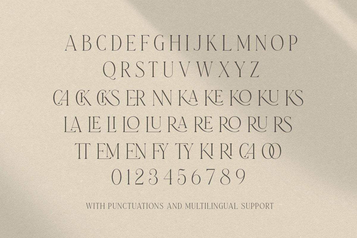 Laterlocks All Caps Ligature Serif Typefac-4