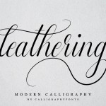 Leathering Modern Calligraphy Font