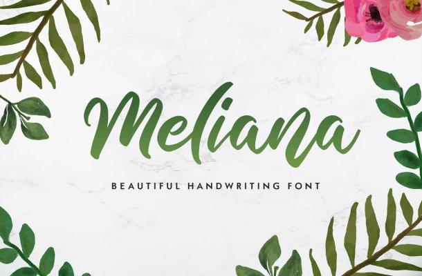 Meliana Handwritten Script Font-1