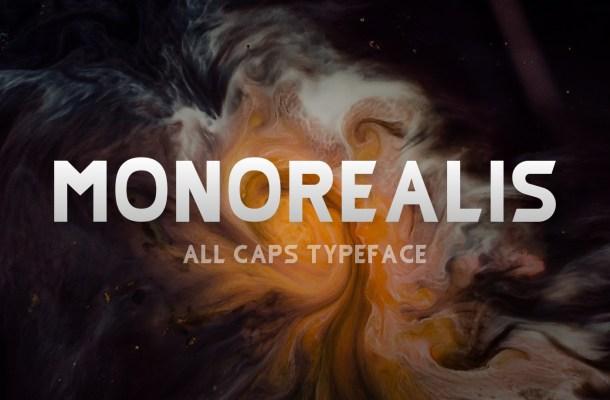 Monorealis Sans Serif Typeface