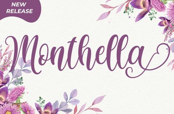 Monthella Calligraphy Script Typeface