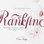 Rankfine Calligraphy Script Font