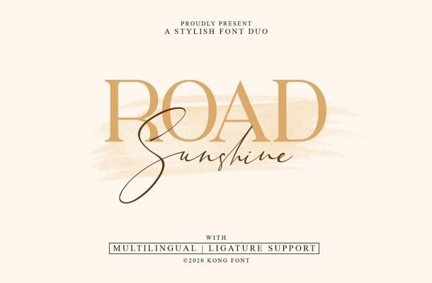 Road Sunshine Font Duo