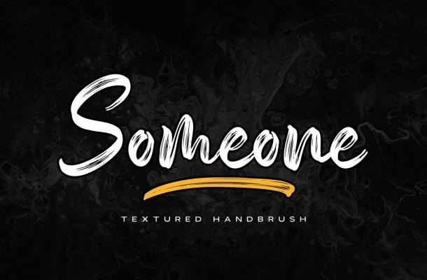Someone Handbrush Script Font