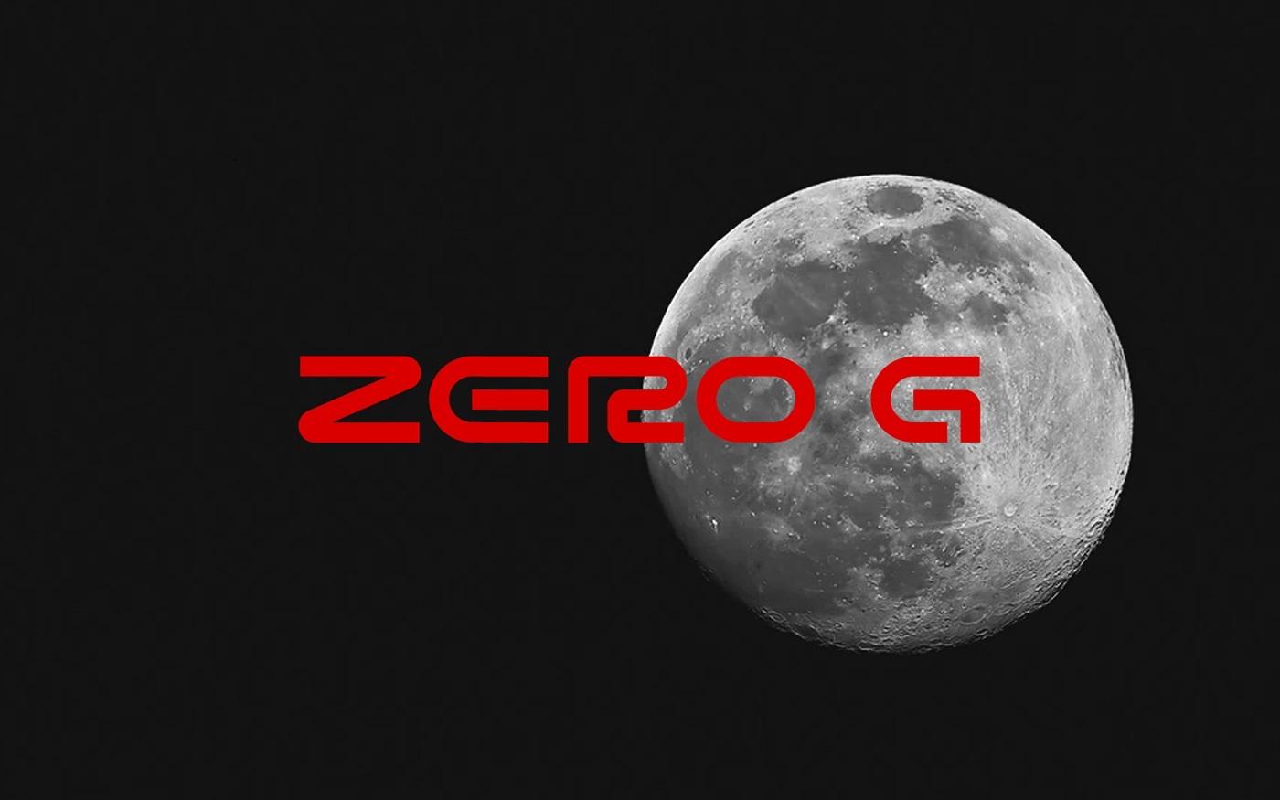 Zero G Display Font
