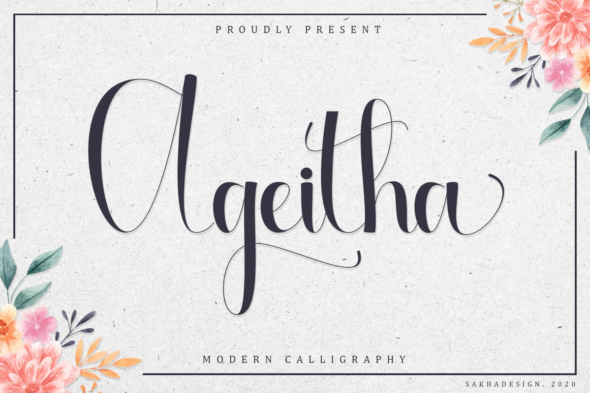 Ageitha Modern Calligraphy Font
