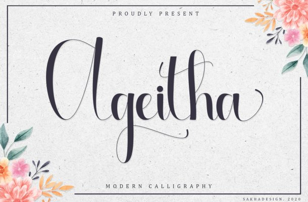 Ageitha Modern Calligraphy Font