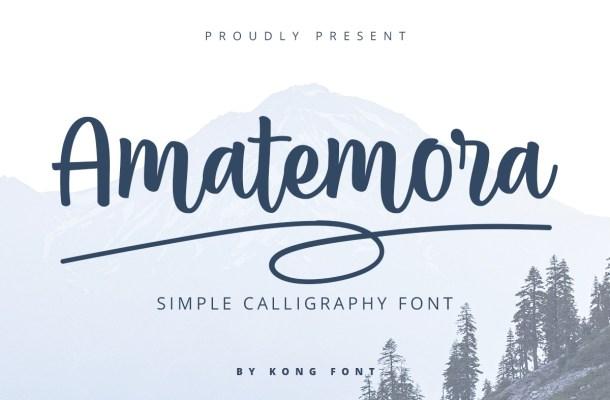 Amatemora Handwritten Script Font