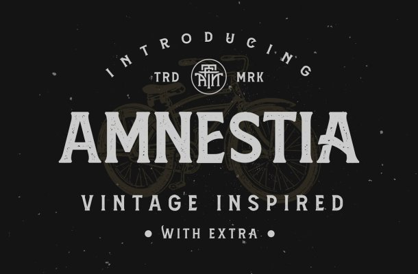 Amnestia Display Serif Typeface