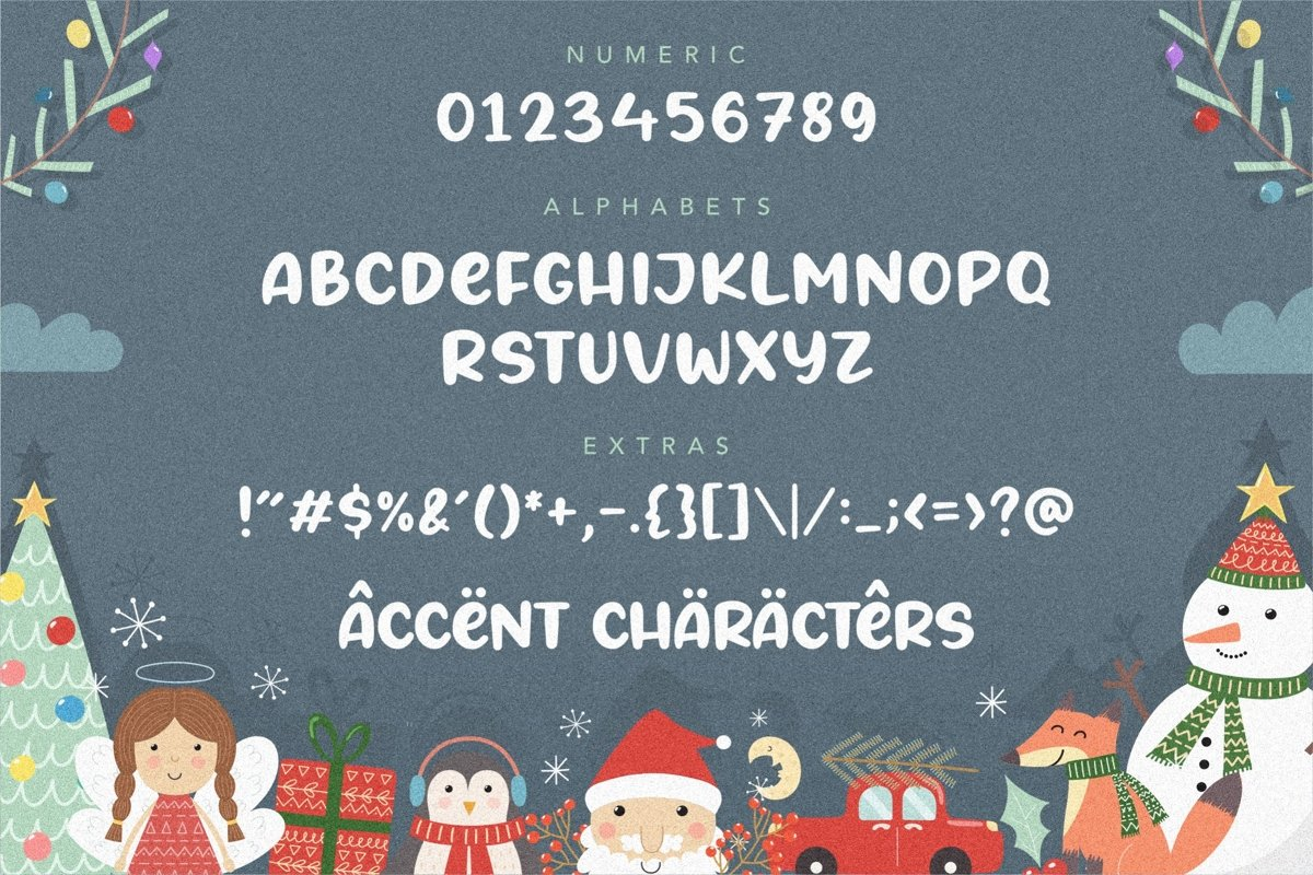 Angels Cookie Bold Script Font-3