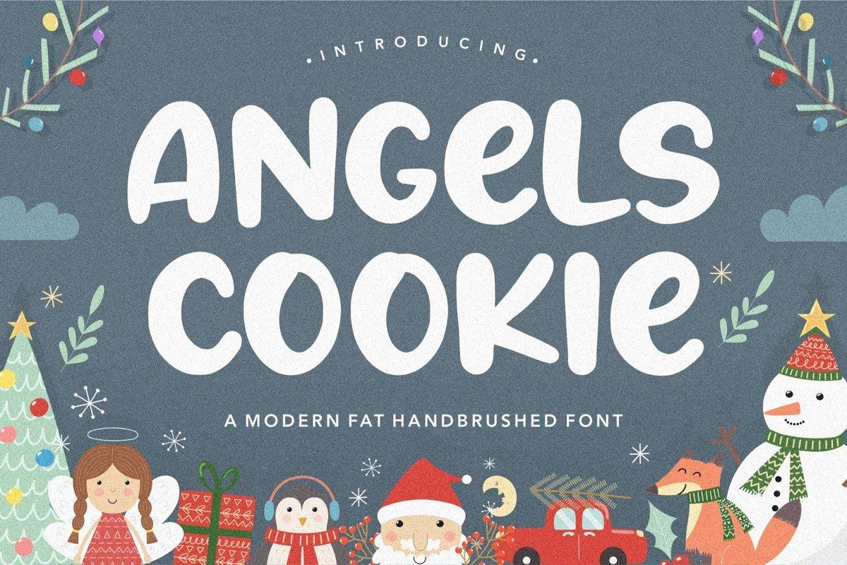 Angels Cookie Bold Script Font
