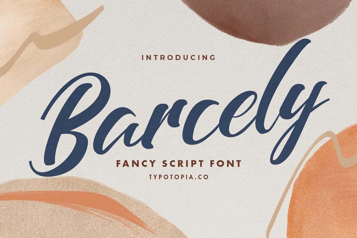 Barcely Fancy Script Font