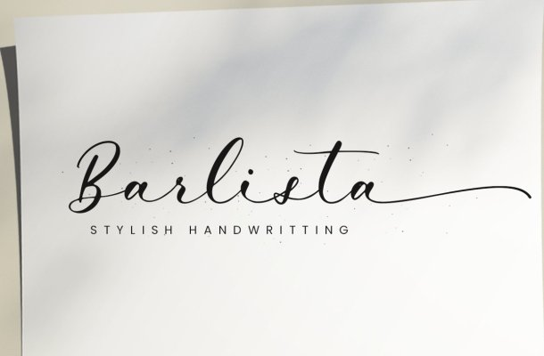 Barlista Stylish Handwritten Script Font