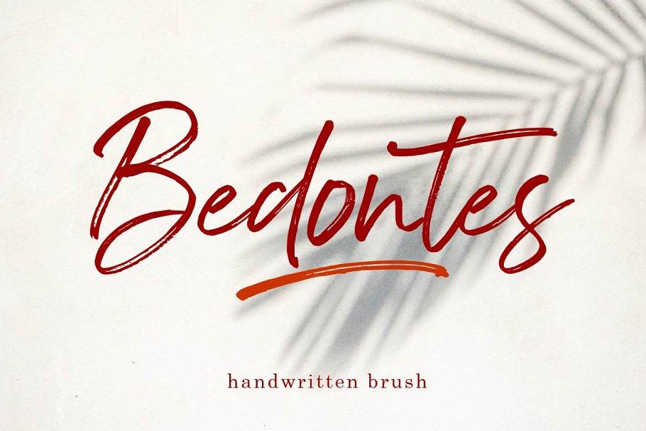 Bedontes Handwritten Brush Font
