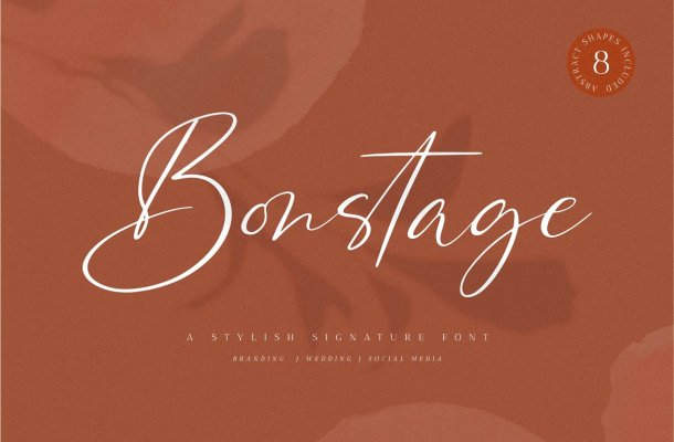 Bonstage Handwritten Script Font