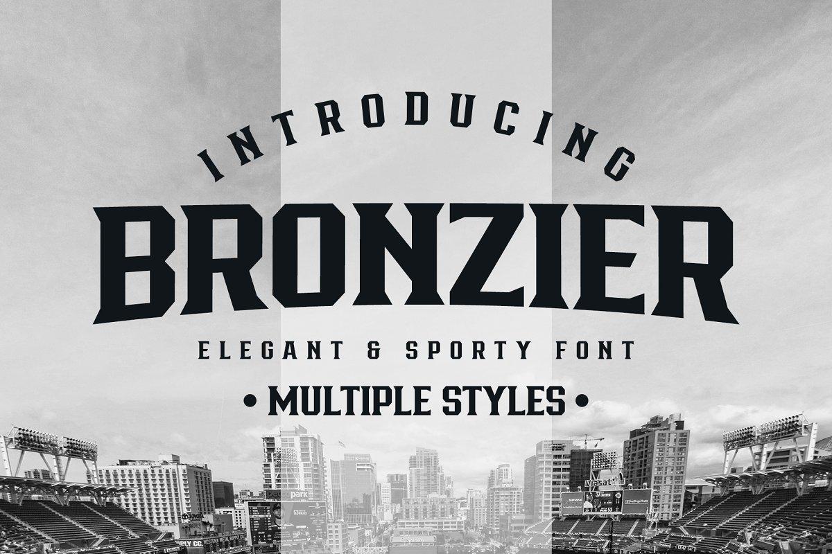 Bronzier Sporty Serif Font Family
