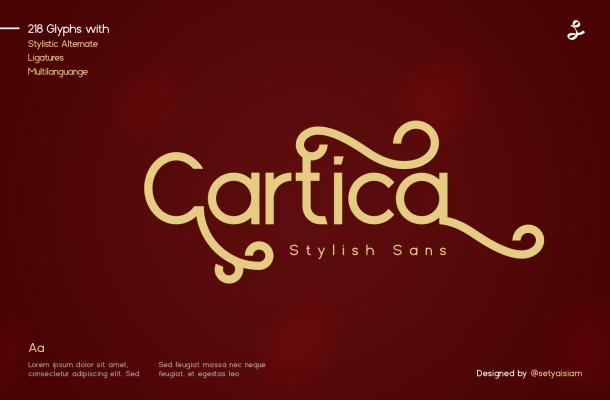 Cartica Stylish Sans Serif Font