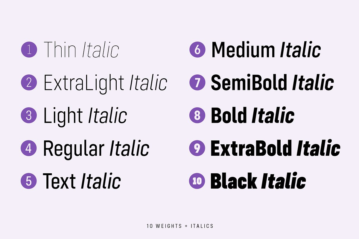 Config Condensed Sans Font Family-2