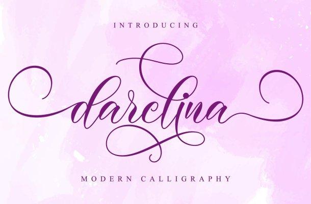 Darelina Calligraphy Script Font