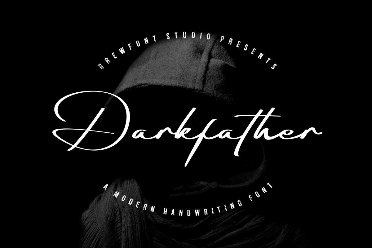 Darkfather Handwritten Signature Font