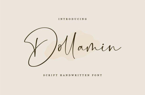 Dollamin Handwritten Script Font