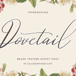 Dovetail Calligraphy Script Font