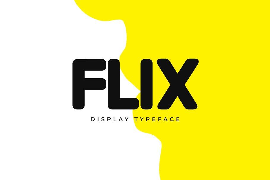 FLIX -Unique Display Logo Typeface
