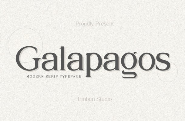 Galapagos Modern Serif Typeface