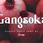 Gangsoka Classy Serif Font