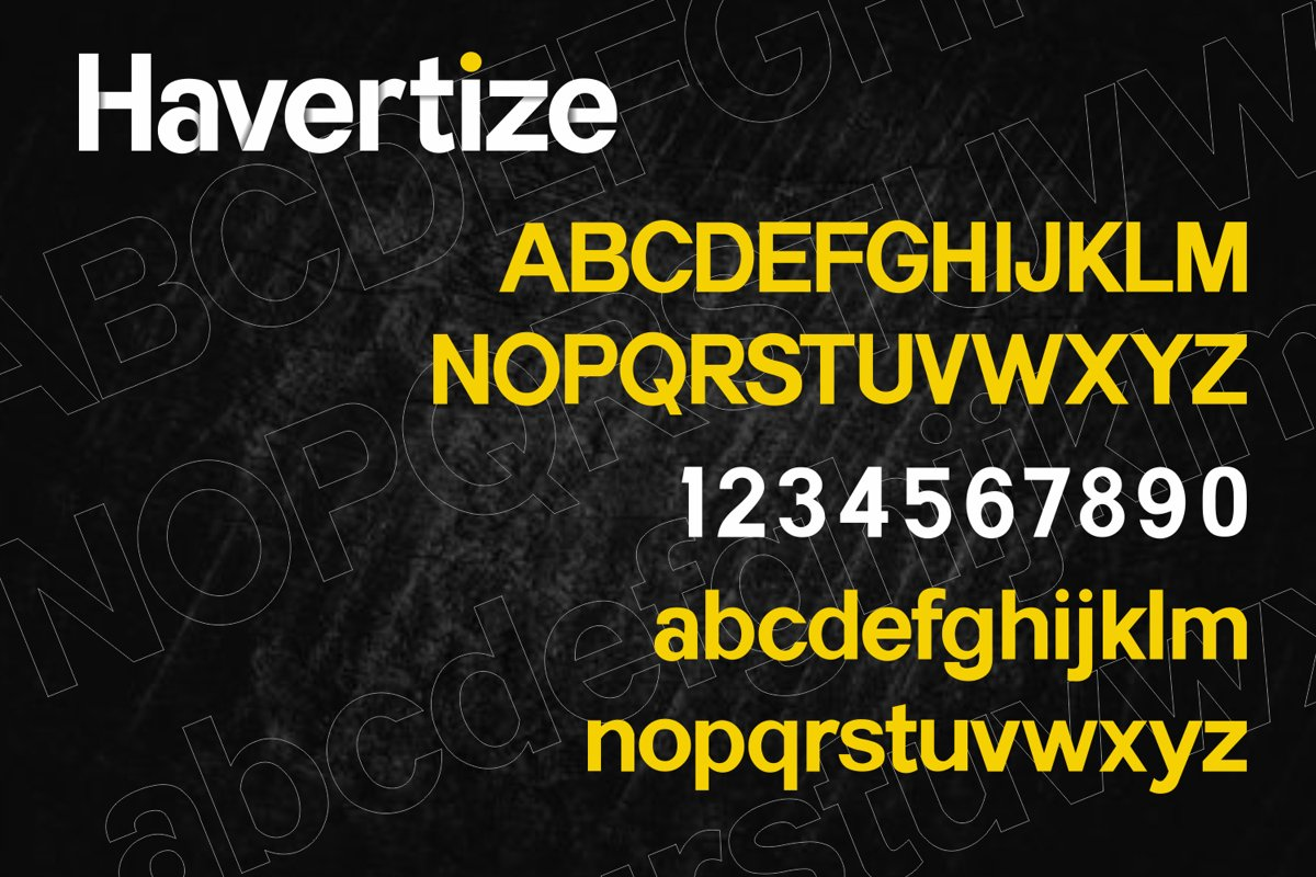 Havertize Bold Sans Serif Font-3