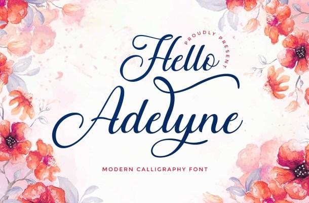 Hello Adelyne Calligraphy Script Font