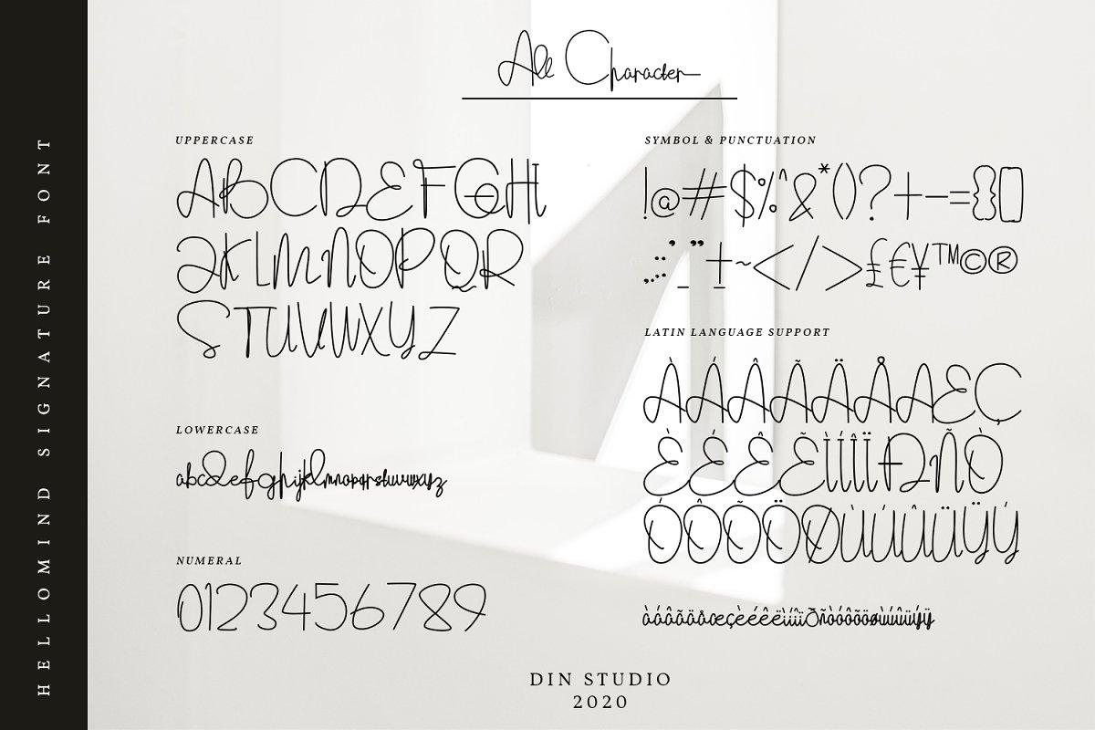 Hellomind Signature Script Font-3