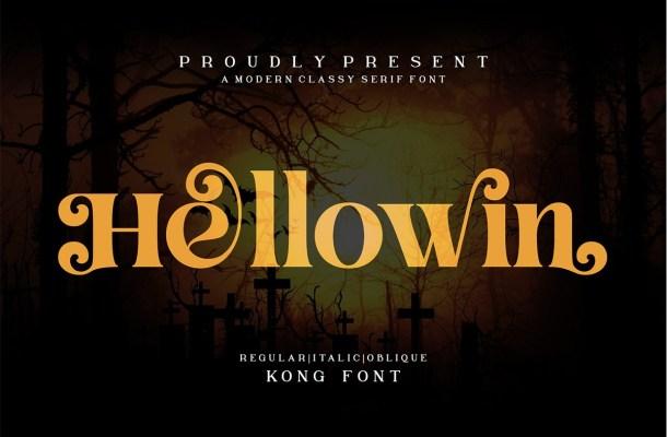 Hellowin Modern Serif Font