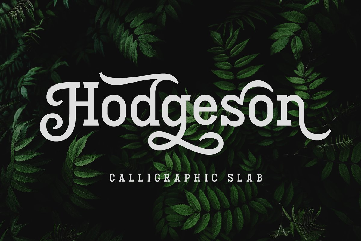 Hodgeson Calligraphy Slab Serif Font