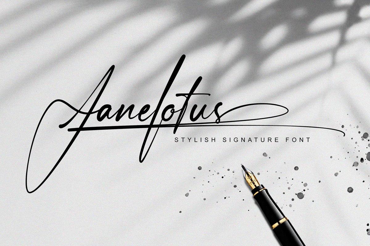 Janelotus Handwritten Signature Font
