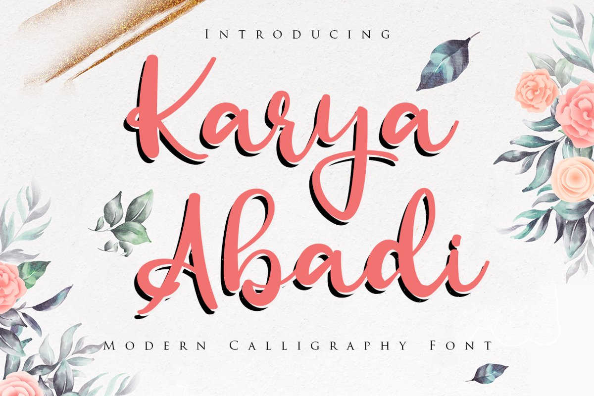 Karya Abadi Bold Calligraphy Font