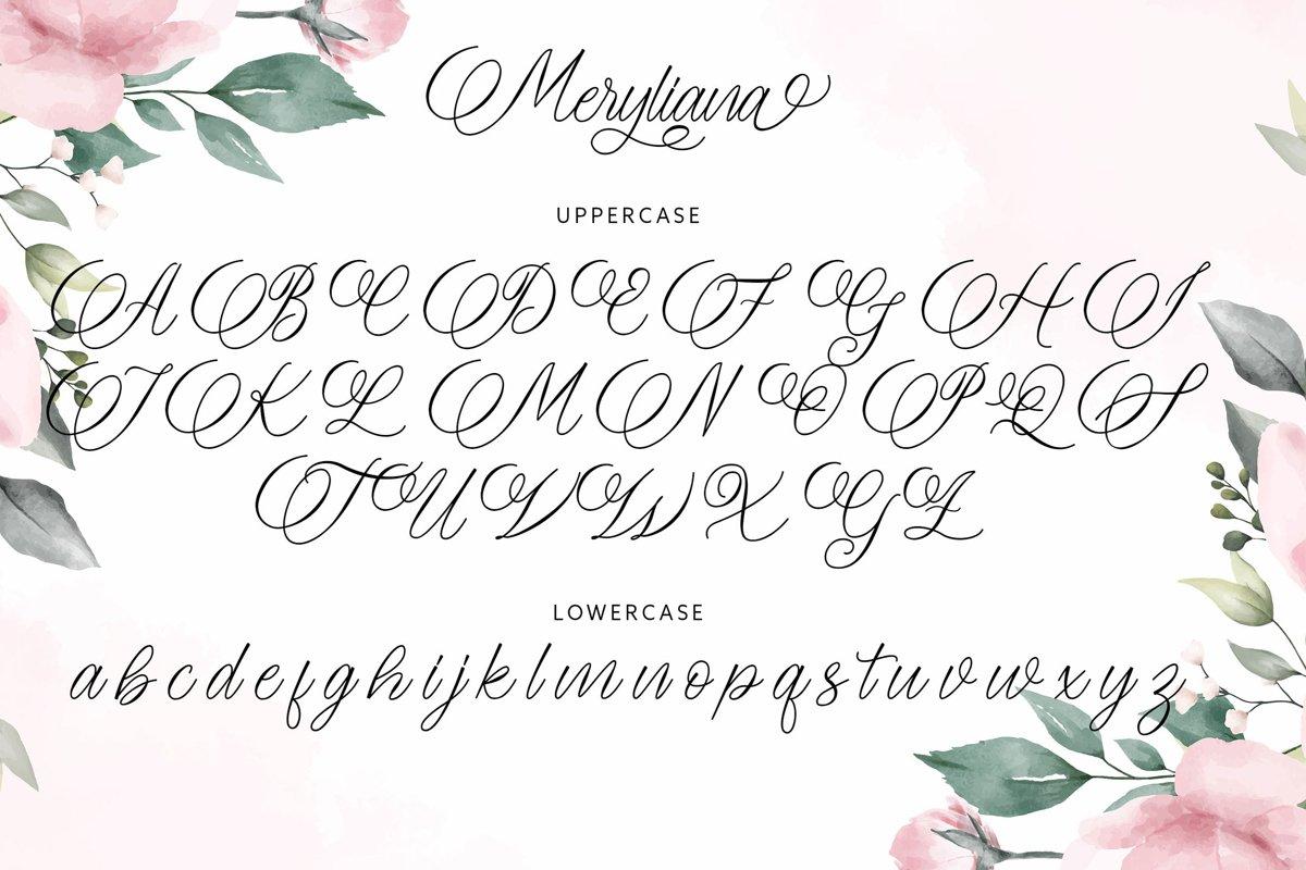 Meryliana Calligraphy Script Font-3
