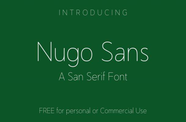 Nugo Free Sans Serif Font