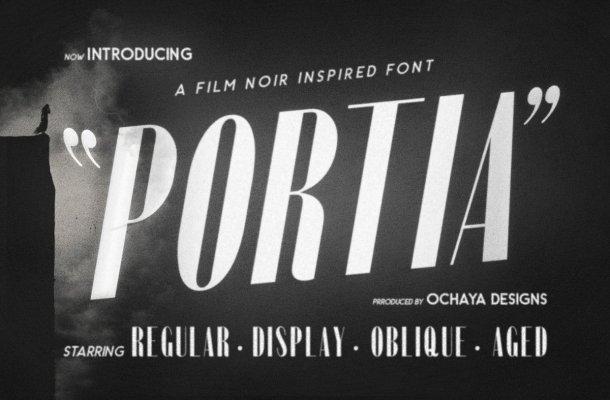 Portia Film Noir Inspired Font