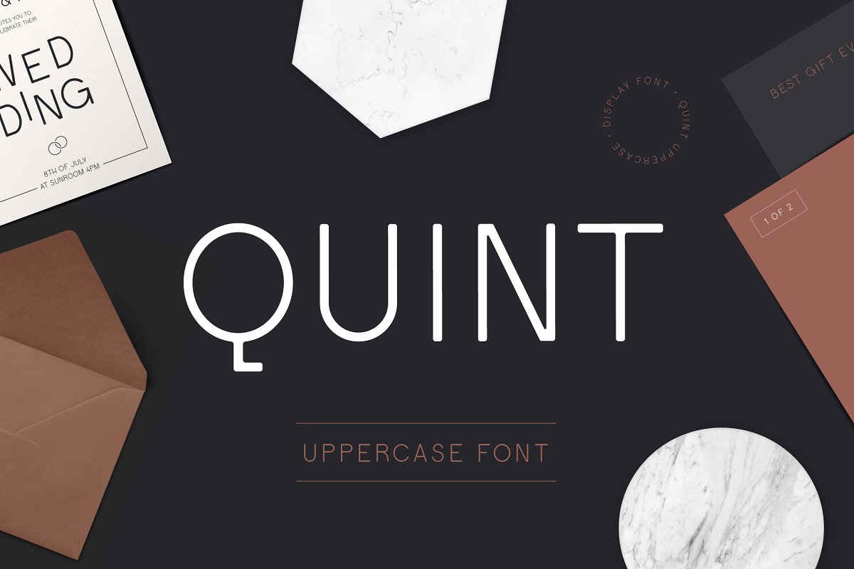 Quint Uppercase Sans Serif Font