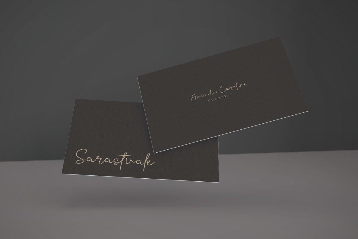 Sarastvale Monoline Signature Script Font-2