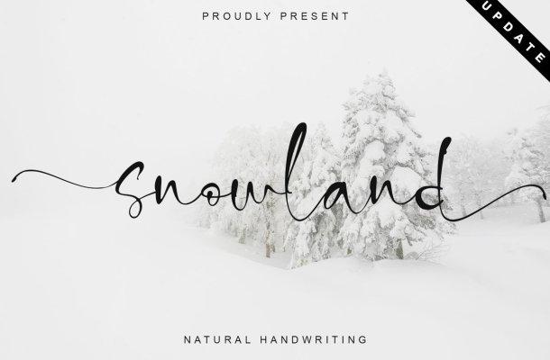 Snowland Natural Handwritten Script Font