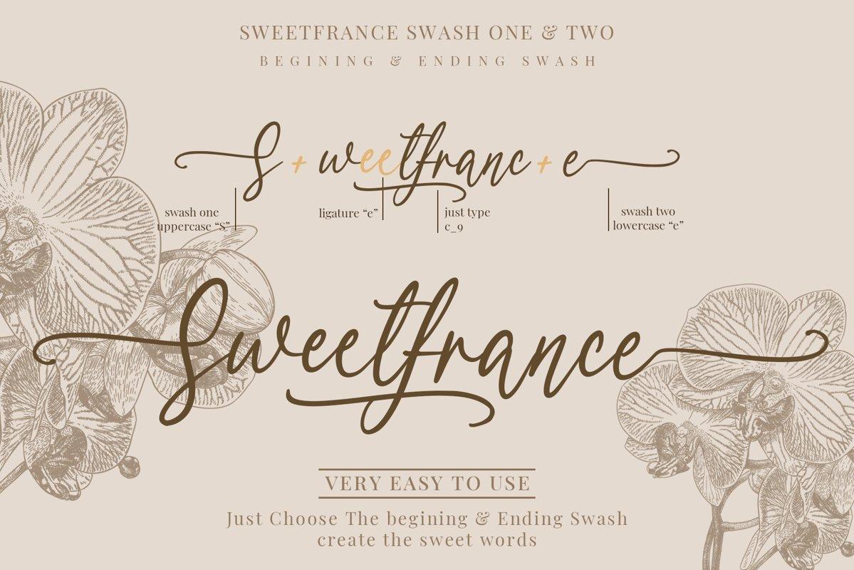 Sweetfrance Handwritten Script Font-2