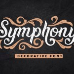 Symphony Decorative Display Font